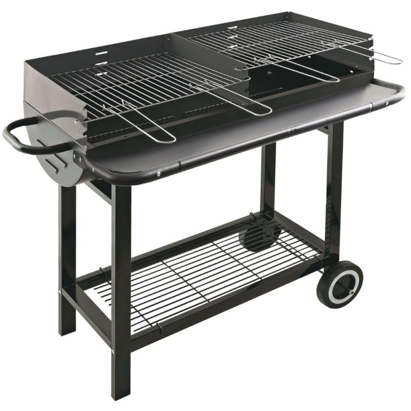 barbecue carbone bbq grill a carbonella con 2 griglie e 2 ruote 144103 Ingrosso Casalinghi da oltre 50 anni