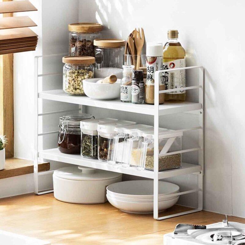 icon1 Luxe Adjustable Tiers Standing Organizer Ingrosso Casalinghi da oltre 50 anni